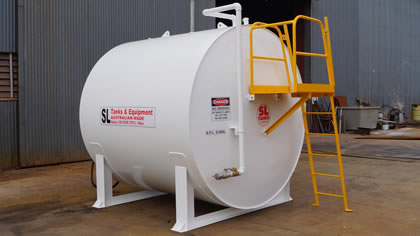 2.4 Diameter Onground Farm Diesel Storage Tanks & SL Tanks u0026 Equipment Pty Ltd - Diesel Storage Petrol Storage Oil ...
